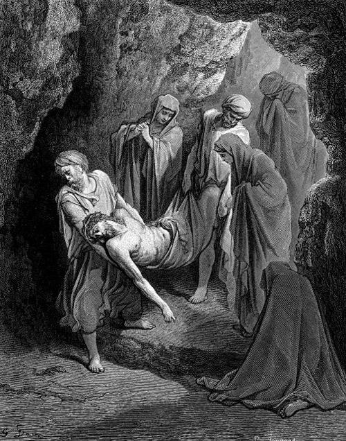 Положение Тела Господа Иисуса Христа в саду во гроб